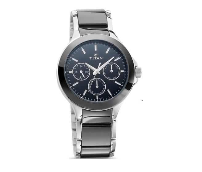 Titan 90089KD01 Ceramics Analog Watch for Men