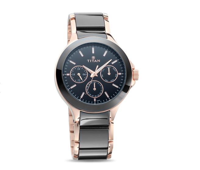 Titan 90089KD02 Ceramics Analog Watch for Men