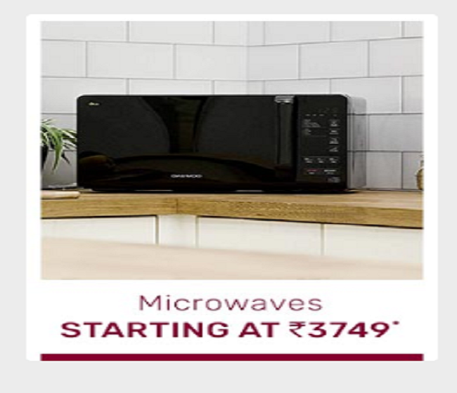 Microwaves starting at Rs 3,749