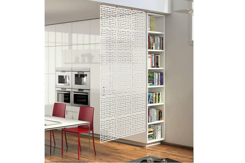 Simple Carved Room Divider for minimalists