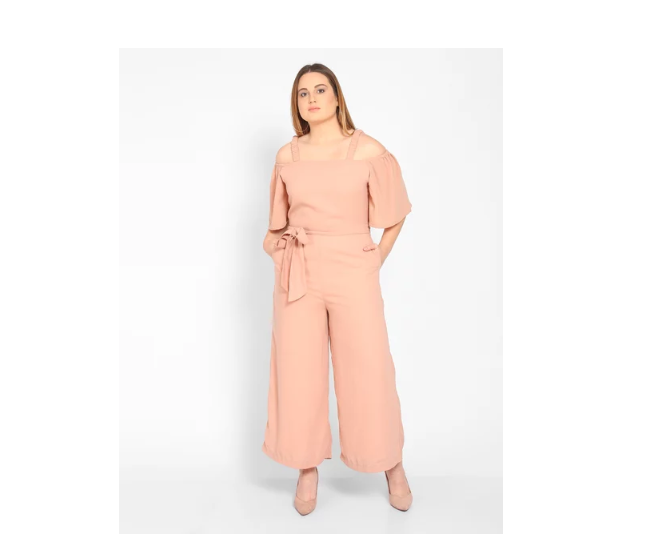 Rose Eva Plus Size Knotted Jumpsuit by Stalkbuylove
