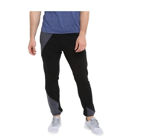 Alcis Black Cotton Polyblend Track Pants
