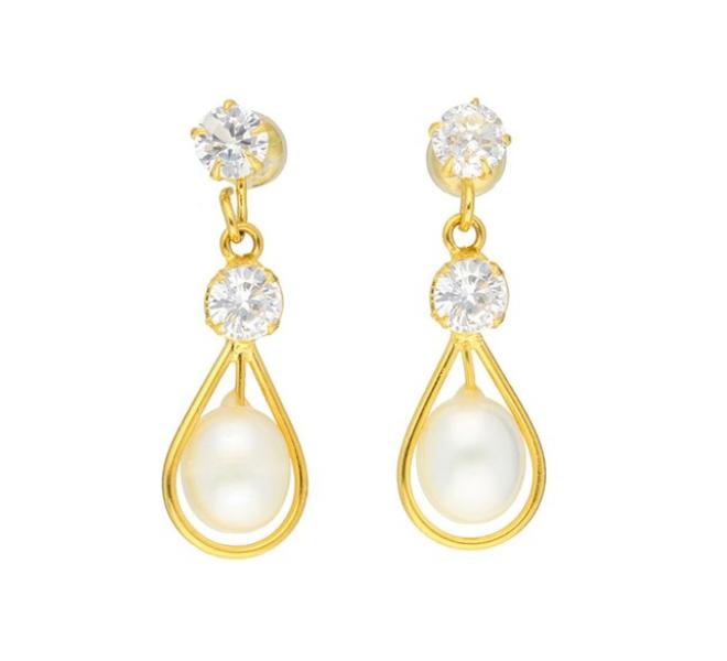 37% off on Kyle golden alloy drop earrings