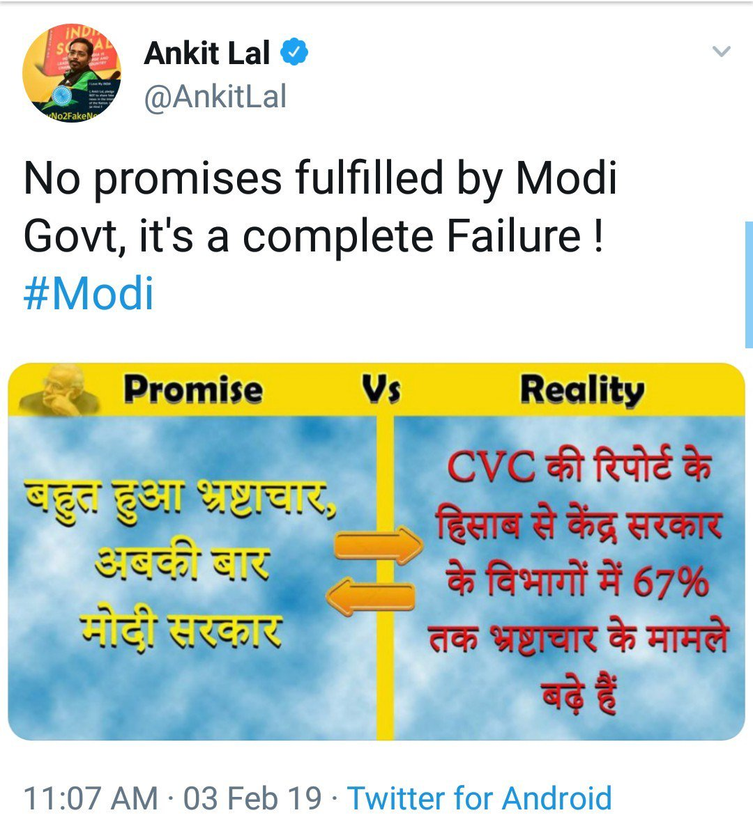 FACT CHECK: AAP's Ankit Lal shares partial information to