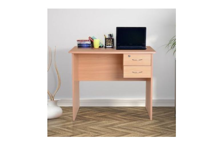 Wooden Study Table in Honey Colour