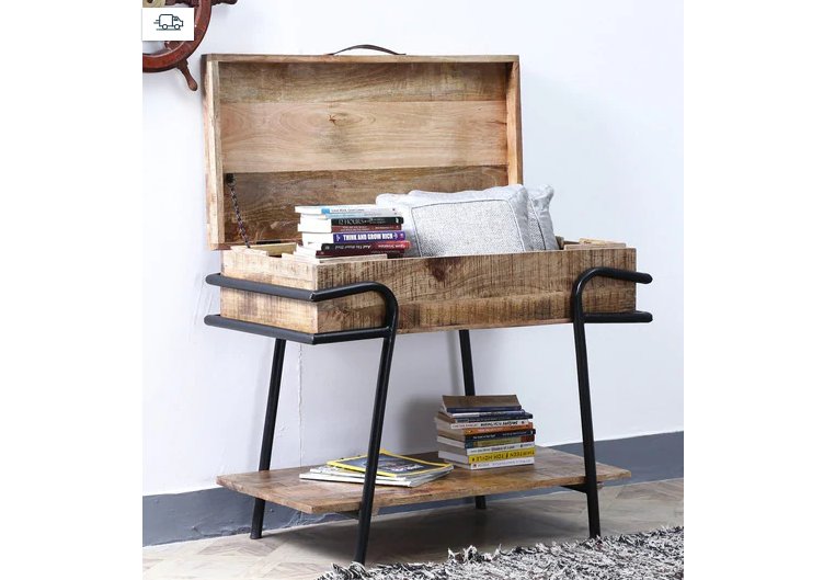 Rustic Trunk Console Table for an eclectic home