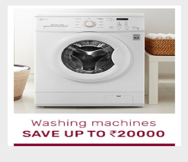 Save up to Rs 20,000 on washing machines