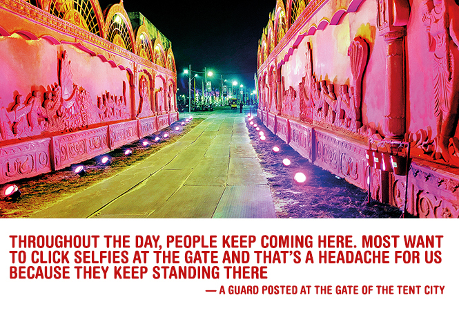 The VIP tent city, situated at Arail, hosting celebs and VIPs, is a big draw for visitors to the Ardh Kumbh Mela, Prayagraj (BCCL)