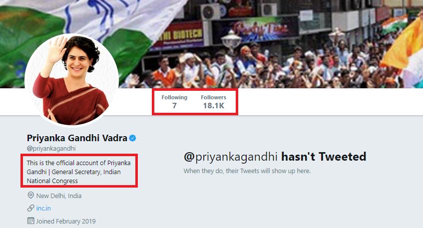 Priyanka Official Account