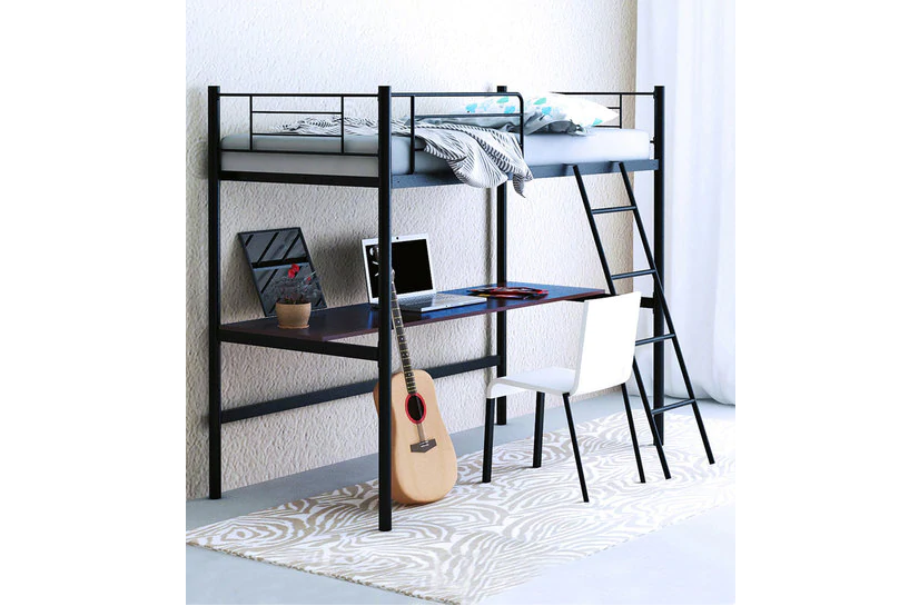 Bunk bed with a study table