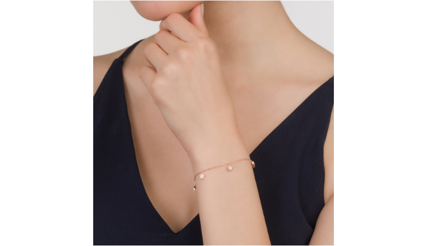 Diamond Stars Bracelet - Rose Gold