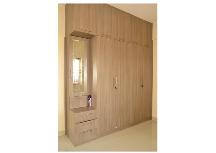 Modular wardrobe with a side dresser