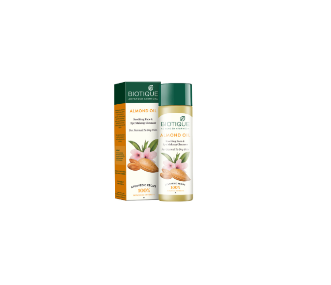 Biotique Bio Almond Oil Soothing Face and Eye Makeup Cleanser