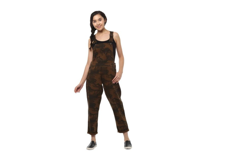 Cotton Camouflage print Dungaree