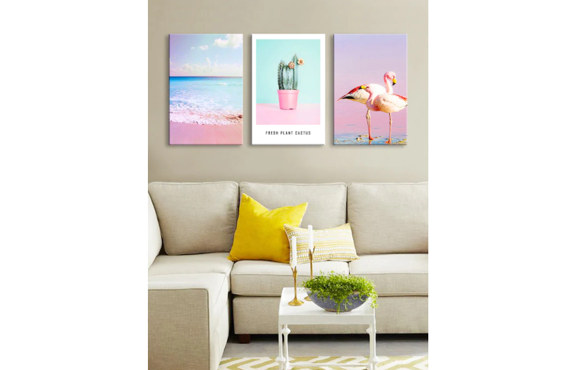 Whimsy Wall Art with a tropical feel