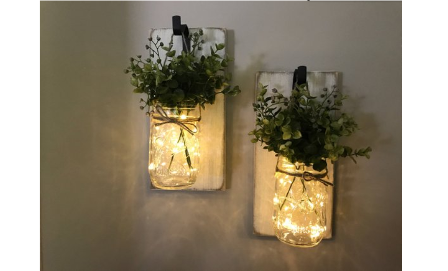 Combine greenery with lights