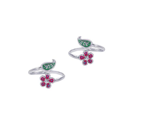 Leaf & Floral 92.5 Sterling Silver Toe Ring