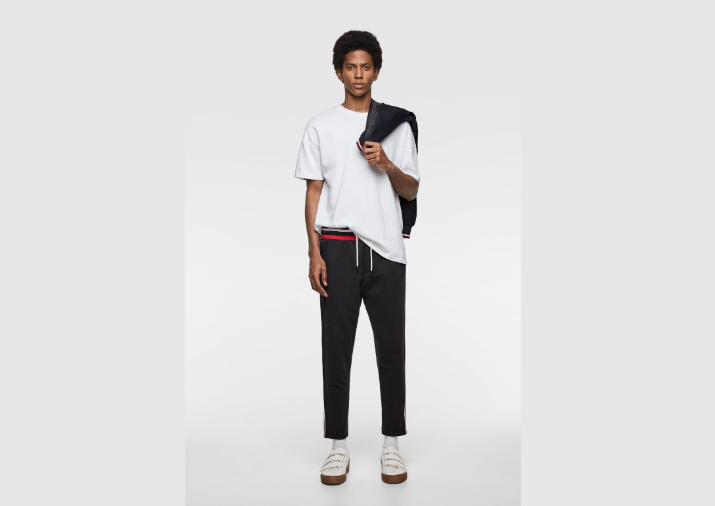 Striped detailed sweat pant
