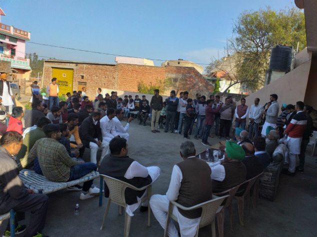 February 23 2019 - Digvijay Chautala during village gathering in Ambala (2)