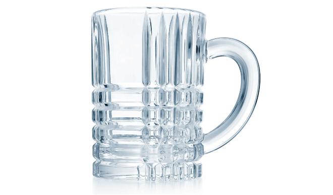 Plaid Crystal Beer Mug