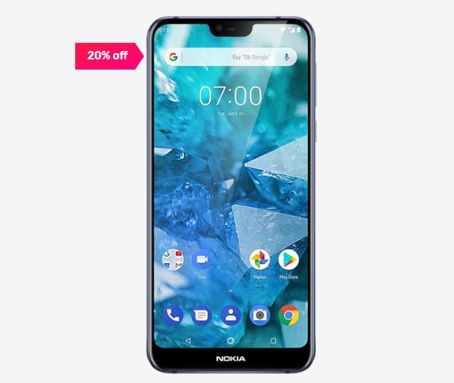 Nokia 7.1 64 GB (Gloss Midnight Blue) 4 GB RAM