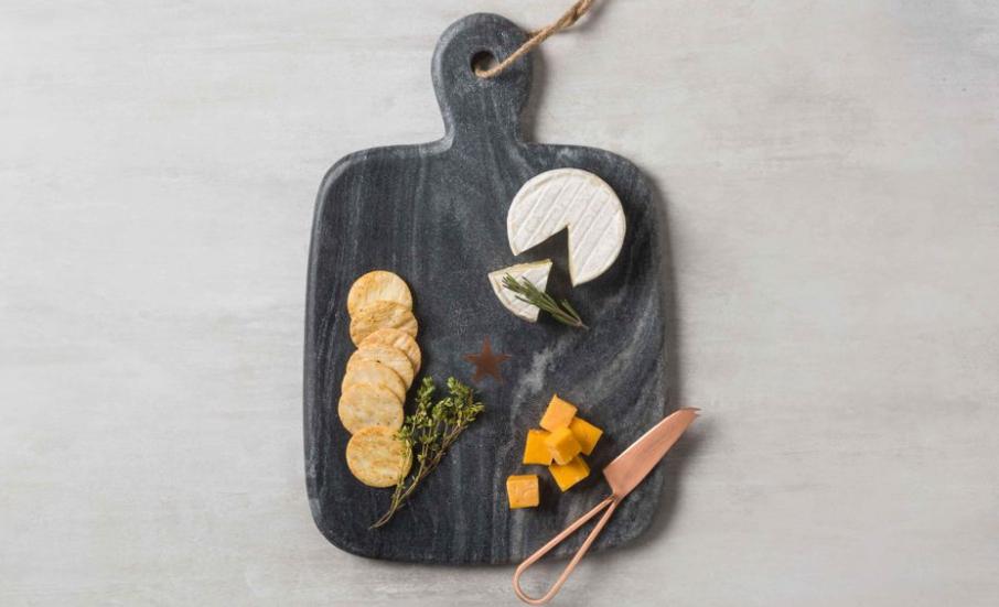 Dark-themed marble platter