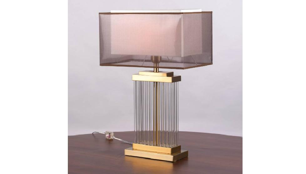 Double shade rectangular lamp