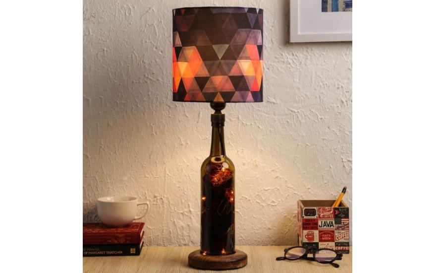 Cotton bottle lamp