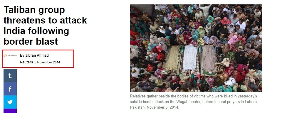 Reuters Report Wagah