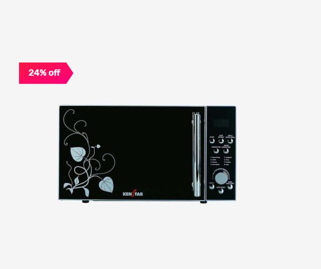 Kenstar KJ20CSL101 20L Convection Microwave Oven (Silver)