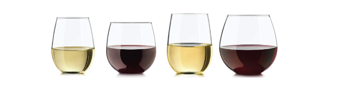 Vineyard Reserve stemless wine glasses