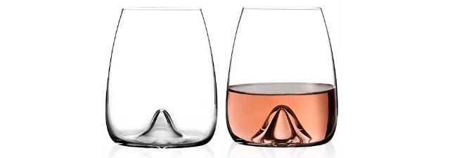 Waterford Elegance stemless wine glass pair