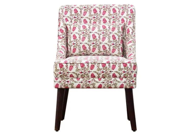 Indian print inspired accent chair