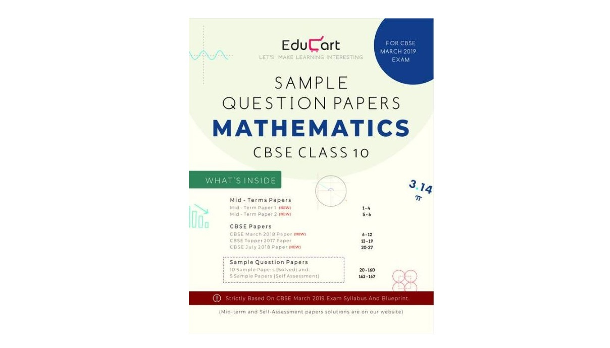 Mathematics CBSE Sample Question Papers 2019 For Class 10