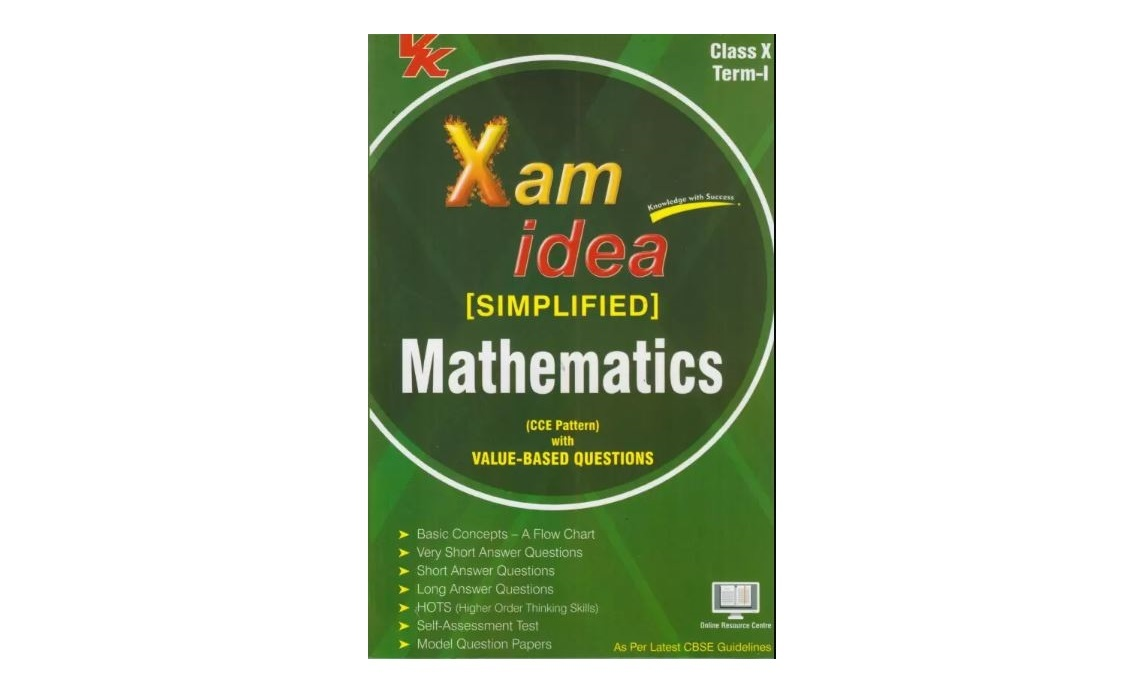 Xam Idea Simplified Mathematics Term- I Class 10th by VK Competition Book