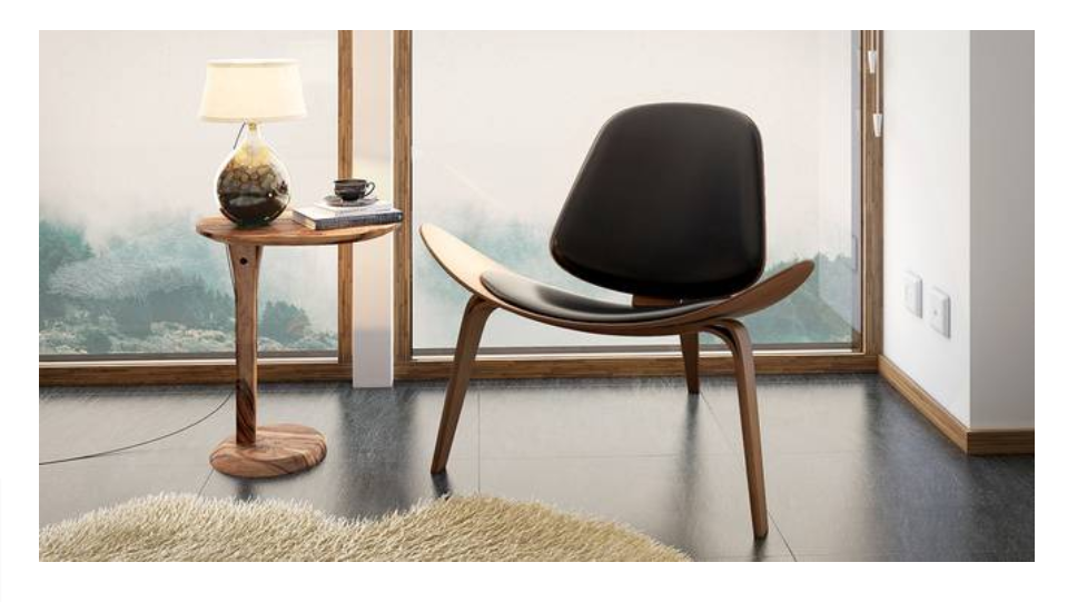 Shell easy chair