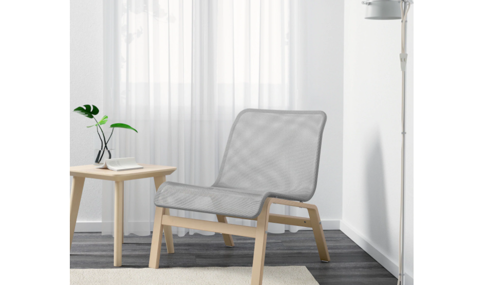 Grey light-weight easy chair