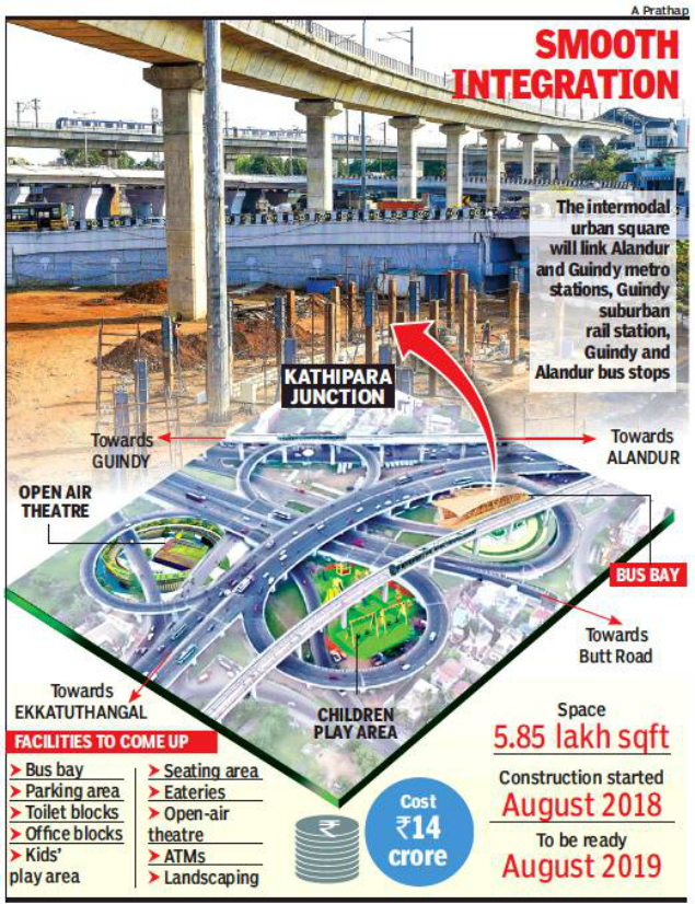 From August Kathipara Hub To Serve Metro Mtc And Emu Commuters Chennai News Times Of India
