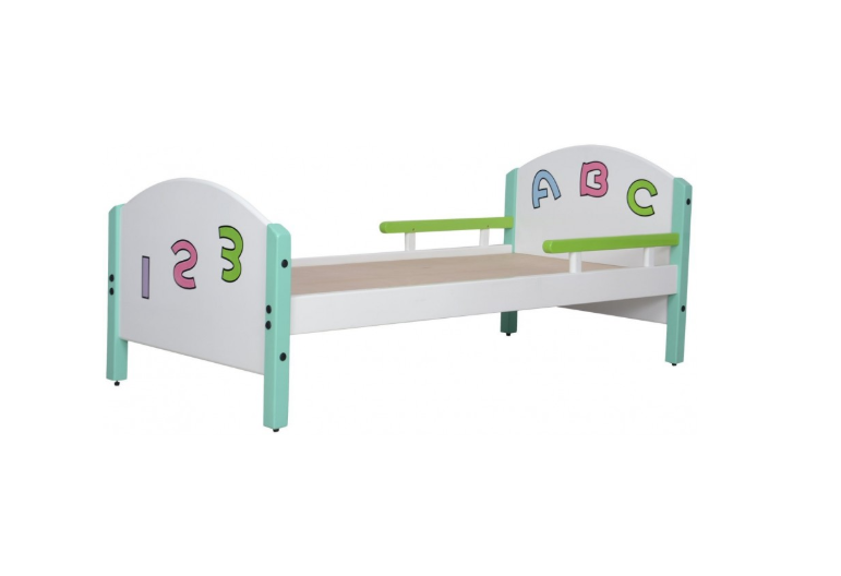 Toddler Bed featuring alphabets