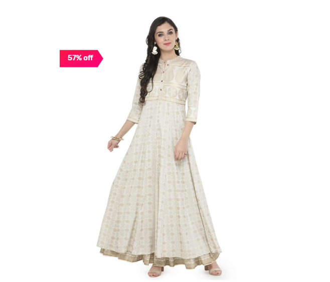 Up to 75% off on Women's Kurtas