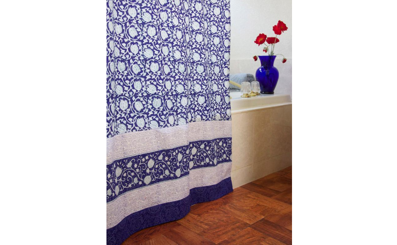 Indian print cotton curtain
