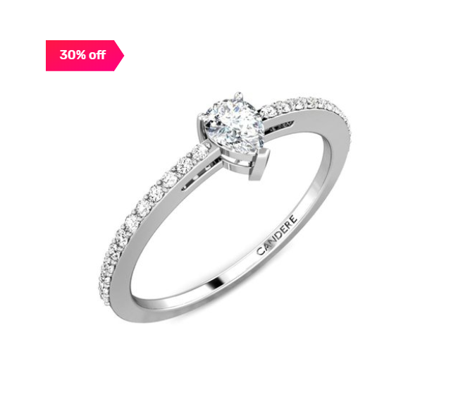 30% off on Candere By Kalyan Jewellers 18 kt Gold & Diamond Ring