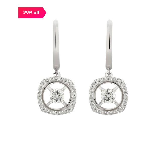 29% off on Joyalukkas 18 kt Gold & Diamond Earrings