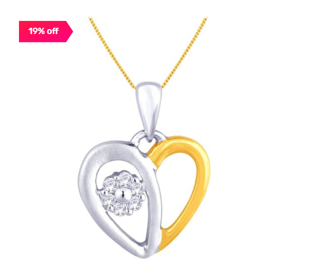 19% off on 18 kt Gold & Diamond Pendant by Malabar Gold and Diamonds