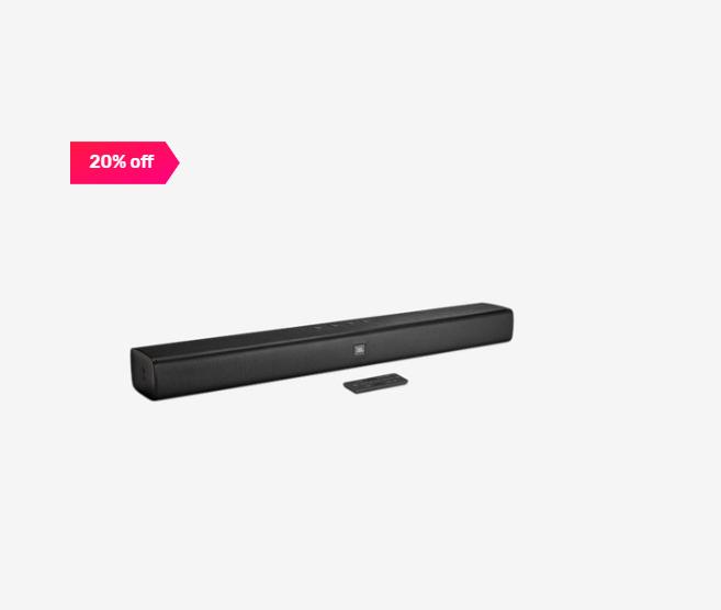 20% off on JBL Bar Studio 2.0 Channel Bluetooth Sound Bar (Black)