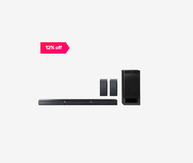 12% off on Sony HTRT3 5.1 ch Sound Bar with Subwoofer (Black)