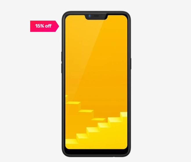 15% off on RealMe C1 32 GB (Mirror Black) 3 GB RAM