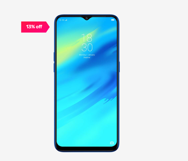 13% off on RealMe 2 Pro 64 GB (Blue Ocean) 4 GB RAM