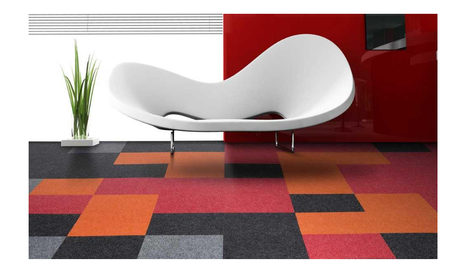 Add a youthful appeal with solid carpet tiles