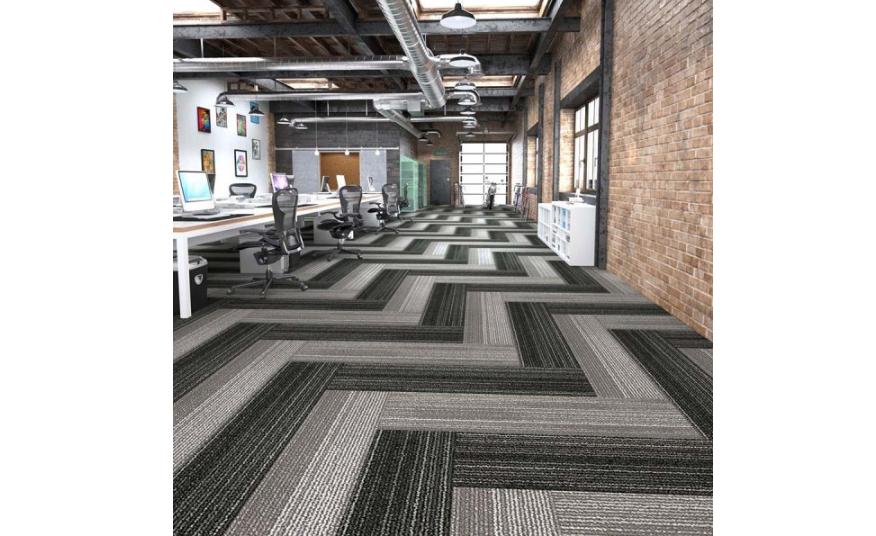 Monochrome themed carpet tiles